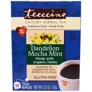 Teeccino Chicory Herbal Tea in Dandelion Coconut and Mocha Mint