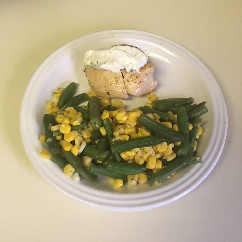 chicken with corn