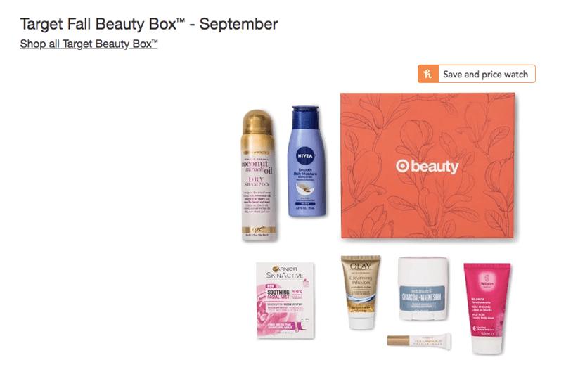 target fall beauty box